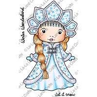 La-La Land Crafts - Rubber Cling Stamp - Snow Princess Marci