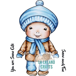 La-La Land Crafts - Rubber Cling Stamp - Winter Baby Luka