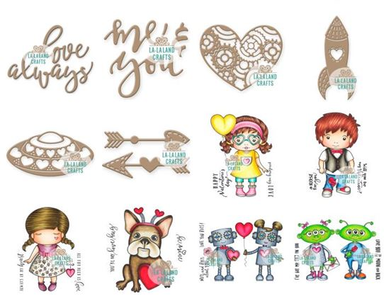 La-La Land - new Valentine's Day cling stamps & Dies