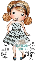 La-La Land Crafts - Rubber Cling Stamp - Fabulous Molli