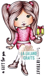 La-La Land Crafts - Rubber Cling Stamp - Birthday Gift Molli