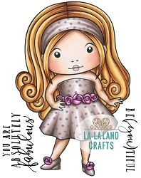 La-La Land Crafts - Rubber Cling Stamp - Fabulous Marci