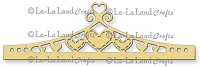 La-La Land Crafts - Die - Heart Header Border