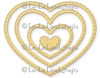 La-La Land Crafts - Die - Stitched Nested Hearts (set of 4)