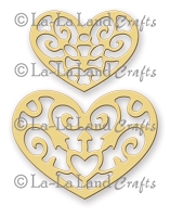 La-La Land Crafts - Die - Filigree Hearts (set of 2)