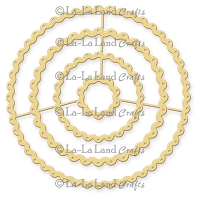 La-La Land Crafts - Die - Pierced Scalloped Circles (set of 4)