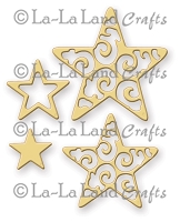 La-La Land Crafts - Die - Filigree Stars (set of 4)