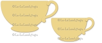 La-La Land Crafts - Die - Teacups (set of 2)