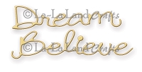 La-La Land Crafts - Die - Dream and Believe (set of 2)