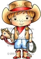 La-La Land Crafts - Rubber Cling Stamp - Cowboy Luka
