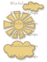 La-La Land Crafts - Die - Stitched Sun and Clouds (set of 3)