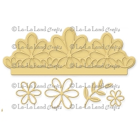 La-La Land Crafts - Die - Flower Elements Border Set