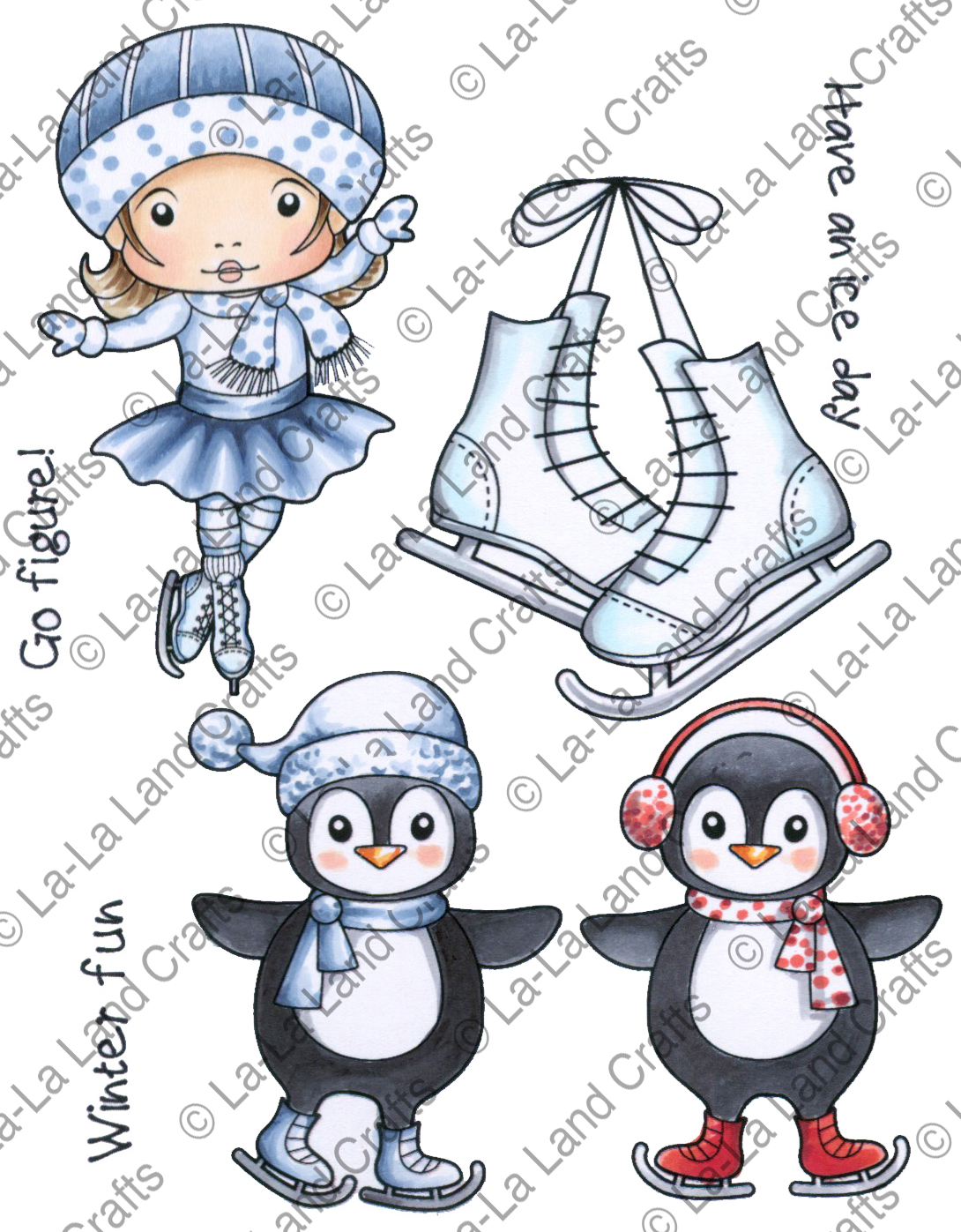 La-La Land - new Winter cling stamps & Dies