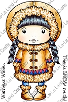 La-La Land Crafts - Rubber Cling Stamp - Inuit Marci