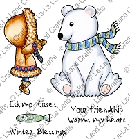 La-La Land Crafts - Rubber Cling Stamp - Winter Blessings