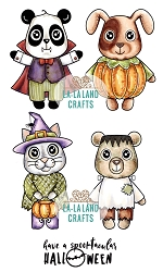 La-La Land Crafts - Rubber Cling Stamp - Halloween Critters