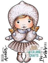 La-La Land Crafts - Rubber Cling Stamp - Winter Marci