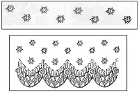 LaBlanche Silicone Stamp - Lace Pattern (2 Stamps)
