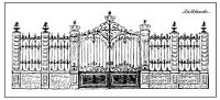 LaBlanche Silicone Stamp - Stately Gate