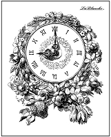 LaBlanche - Silicone Stamp - Floral Clock