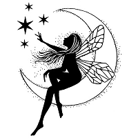 Lavinia Stamps - Clear Stamp - Moon Fairy