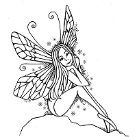 Lavinia Stamps - Clear Stamp - Sitting Fairy