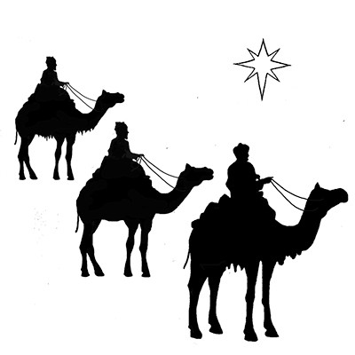 Lavinia Stamps Clear Stamp Three Kings And A Star