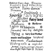 Lavinia Stamps - Clear Stamp - Fairy Words
