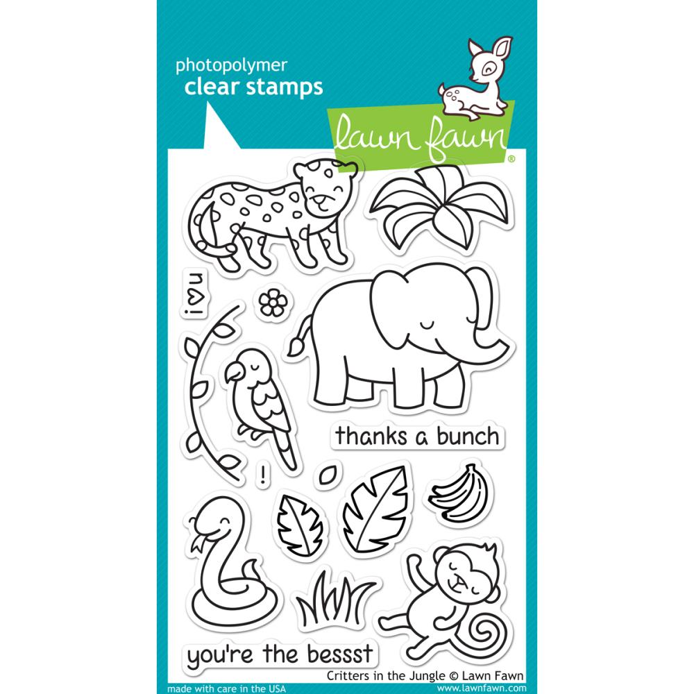 fawn clear stamps critters in the jungle lawn fawn clear stamps