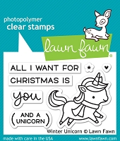 Lawn Fawn - Clear Stamps - Winter Unicorn