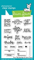 Lawn Fawn - Clear Stamps - Tiny Tag Sayings