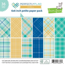 Lawn Fawn - 6x6 paper pad - Perfectly Plaid Chill Petite Paper Pack