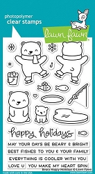 Lawn Fawn - Clear Stamps - Beary Happy Holidays