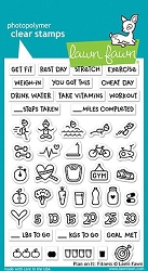 Lawn Fawn - Clear Stamps - Plan On It Fitness
