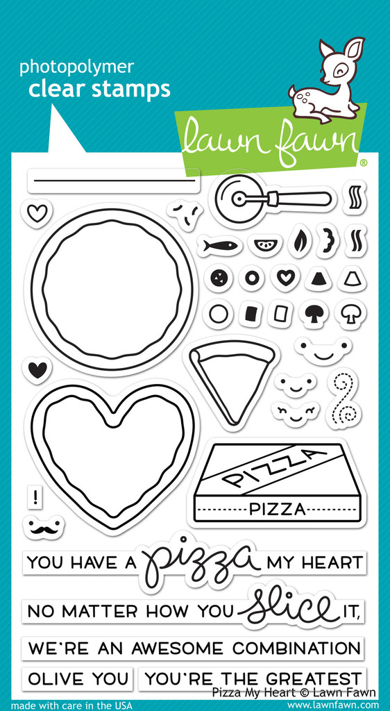 stamps lawn fawn clear stamps pizza my heart lawn fawn clear stamps