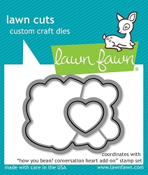 Lawn Fawn - Die - How you bean? Conversation heart add-on