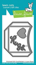 Lawn Fawn - Die - Stitched gift card pocket