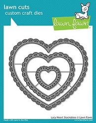 Lawn Fawn - Die - Lacy Heart Stackables