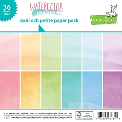 Lawn Fawn - 6x6 paper pad - Watercolor Wishes Petite Paper Pack