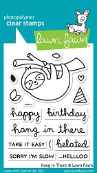 Lawn Fawn - Clear Stamps - Hang In There