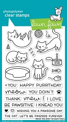 Lawn Fawn - Clear Stamps - Meow You Doin'