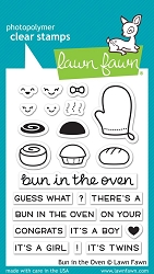 Lawn Fawn - Clear Stamps - Bun In The Oven