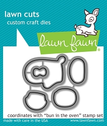 Lawn Fawn - Die - Bun In The Oven