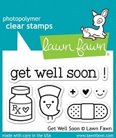 Lawn Fawn - Clear Stamps - Get Well Soon
