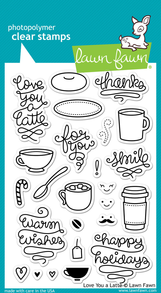 fawn clear stamps love you a latte lawn fawn clear stamps love you a