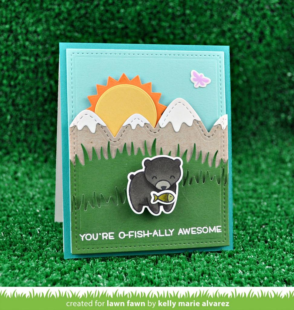 Lawn Fawn Die Grassy Hillside Borders