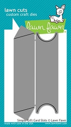 Lawn Fawn - Die - Simple Gift Card Slots