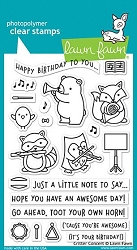 Lawn Fawn - Clear Stamps - Critter Concert