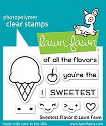 Lawn Fawn - Clear Stamps - Sweetest Flavor