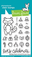 Lawn Fawn - Clear Stamps - Holiday Party Animal
